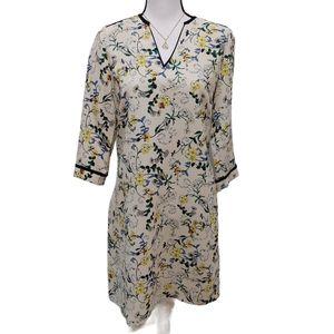 Zara Basic Floral Shift Dress Size M